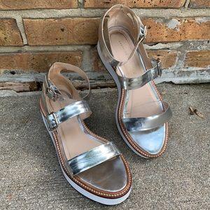 Loeffler Randall Metallic Pia Platform Sandals 7.5